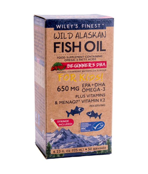 Beginner's DHA Wiley's Finest Wild Alaskan Fish Oil Supplements