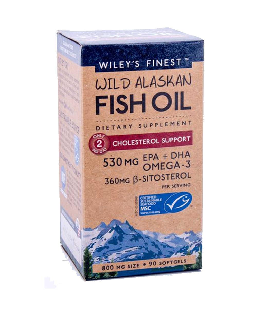 wiley's finest cholesterol support wild alaskan fish oil
