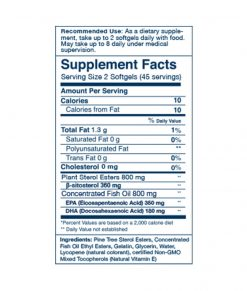Wileys Finest Cholestrol Support Supplement Facts