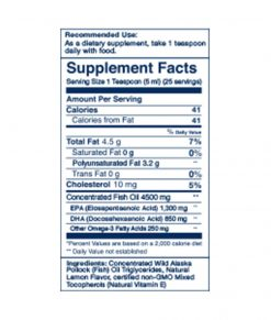 Wileys Finest Peak Omega-3 Liquid Supplement Facts