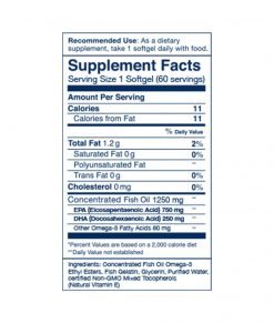 Wileys Finest Peak EPA Soft Gels Supplement Facts