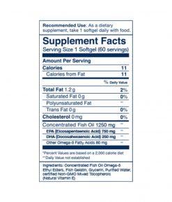 Wileys Finest Peak EPA Soft Gels Supplement Facts